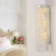 crystal sconces for bathroom luxury crystal sconce corridor led indoor wall light ls deco