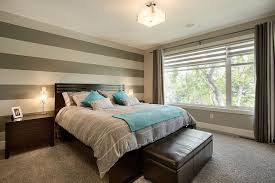 Accent Walls For Bedrooms 20 Trendy Bedrooms With Striped Accent Walls