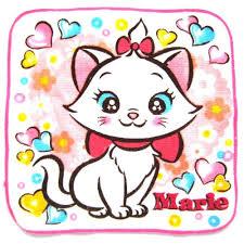 small marie aristocats cat heart print handkerchief disney face