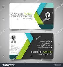 green blue modern creative business card stock vector 546970906