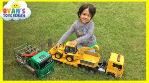 construction vehicles toys videos for kids bruder truck crane
