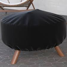 Firepit Covers Covers 32 Inch Black Heavy Duty Pit Cover Durable And