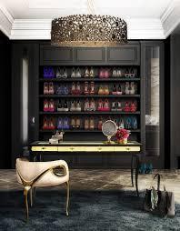 Studio Work Desk Feminine Office Accessories Glass Rack Cabinet Light Brown Glass