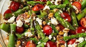 cuisine salade salades d asperges rôties au chèvre et noix de grenoble roxanne