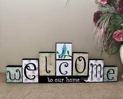 Personalized Home Decor Signs 202 Best Decorative Wood Blocks Images On Pinterest Wood Blocks