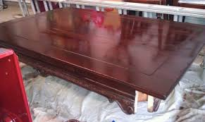 how to refinish veneer table refinishing an old veneer table 3 jpg