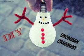 diy snowman ornament tutorial
