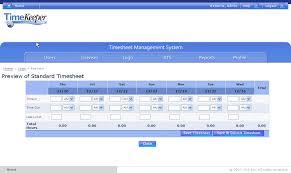 timekeeper standard timesheet templates