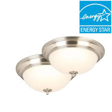 Commercial Electric Led Ceiling Light Commercial Electric Flushmount Lights Lighting The Home Depot