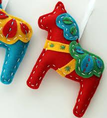 dala ornaments set of 2 and teal