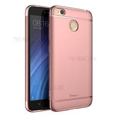 IPAKY 3 in 1 Electroplated PC Mobile Shell for Xiaomi Redmi 4X