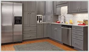 Gray Stained Kitchen Cabinets Classy 60 Grey Wood Kitchen Cabinets Decorating Inspiration Of