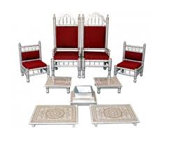 indian wedding chairs for and groom traditional indian wedding chairs pidha bajot set 9 pcs