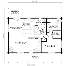 Floor Plans With Basement by Log Style House Plan 3 Beds 2 50 Baths 1810 Sq Ft Plan 17 494