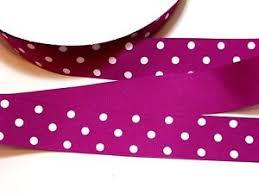 polka dot grosgrain ribbon fuchsia and white polka dot grosgrain ribbon 1 1 2 inches wide x 10