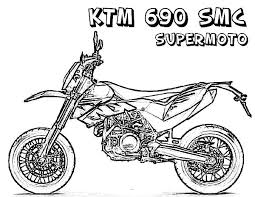 ktm dirt bike coloring pages sketch coloring