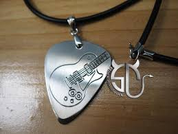 Engraved Guitar Pick Necklace Compare Prices On Engraved Guitar Pick Necklace Online Shopping