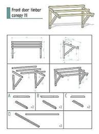 Door Awning Kits Timber Front Door Canopy Porch Hand Made Porch 120cm Front