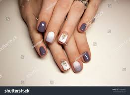 nails beautiful french manicure crystals on stock photo 511923835