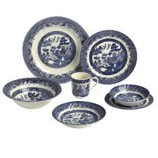 blue willow imperial dinnerware collection christmas tree shops