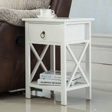 2018 white sofa end side bedside table nightstand storage wood