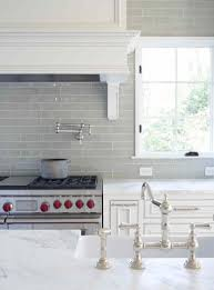 kitchens with subway tile backsplash smoke glass subway tile grey backsplash marble countertops and