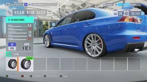 jdm mitsubishi evo forza horizon 3 mitsubishi lancer evo x gsr jdm v8 build youtube