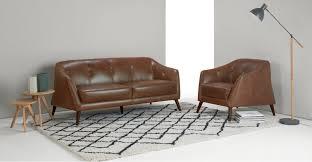 Uk Leather Sofas Nevada 2 Seater Sofa Antique Cognac Leather Made