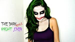the dark knight female joker halloween makeup youtube