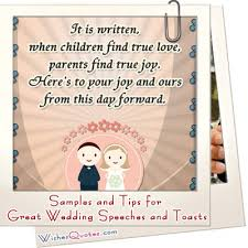 wedding quotes nephew and sles of great wedding speeches and toasts