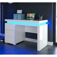 bureau blanc laqué bureau blanc 130 cm bureau dangle en bois avec 4 niches et 3 tiroirs