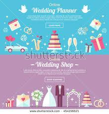 online wedding planner vector header banner design templates online stock vector