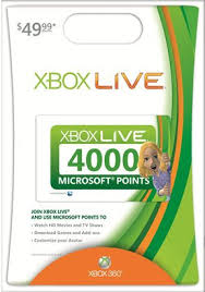 xbox 360 gift card xbox live 4000 points gift card for just 40 save 10