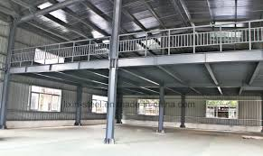 china two floors light steel structure prefab warehouse workshop