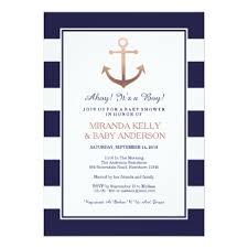 Wedding Invitations Nautical Theme - navy blue it u0027s a boy script baby shower invitation zazzle com