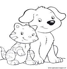 dogs and cats coloring pages exprimartdesign com