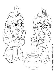 bhagavat chintan das bhikaji sri krishna balarama line drawing