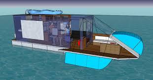 trailerable unfolding houseboat page 7 boat design net
