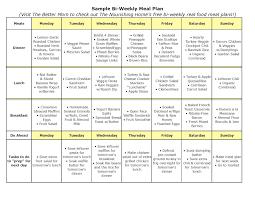 8 best images of sample monthly menu planner printable weekly