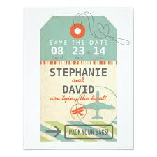 luggage tag save the date luggage tag vintage destination wedding save date card zazzle