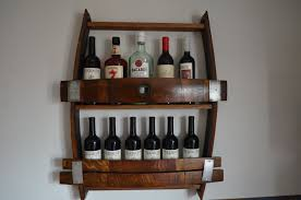 wine barrel wine rack with bung hole
