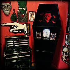coffin bookshelf coffin bookcase www spitfireinteriors horror decor
