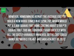 How Much Would It Cost To Build A House How Much Does It Cost To Build A House In Colorado Youtube