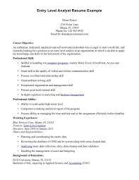 Entry Level Customer Service Resume Objective Resume Objective Entry Level Nardellidesign Com