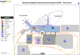 Map Of Orlando Airport by Airport Maps Charts Diagrams Orlando Sanford International