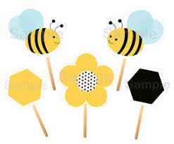Bumble Bee Party Cutouts Decorations Printable