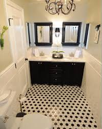 vintage black and white bathroom ideas i have chosen black double vanity with white carrara marble top