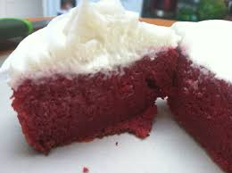 red beet velvet cupcakes with goat cheese cream cheese
