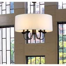 Extend A Finish Chandelier Cleaner Gwenevere 5 Light White Fabric 22 Inch Black Finish Chandelier