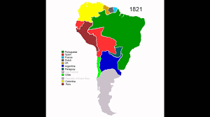 Map Of North America And South America With Countries by Colonial History Of South America Youtube